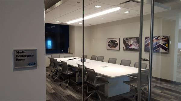 The Media Conference Room is great for meetings or presentations that require a little more privacy.