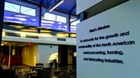 FMA's mission statement is posted in bold blue lettering just inside the North entrance, for all to see.