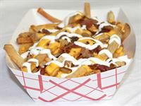 Fresh cut fries with a variety of toppings