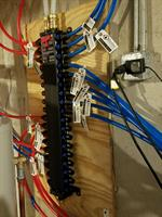 New Pex System main panel and installation throughout entire home