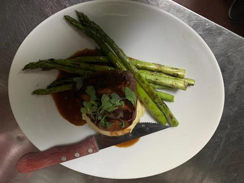 filet Mignon with aspargus