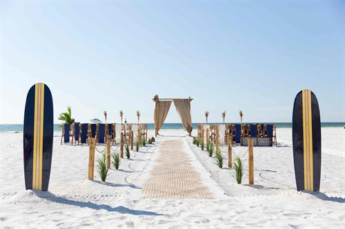 Beach Luau Themed Beach Wedding
