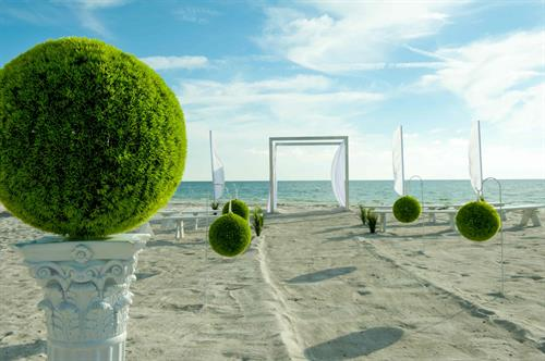 Miami Modern Themed Beach Wedding