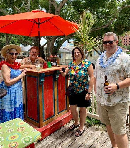 Enjoy FREE Beer or Wine in our Tiki Bar for ALL Evening Tours!