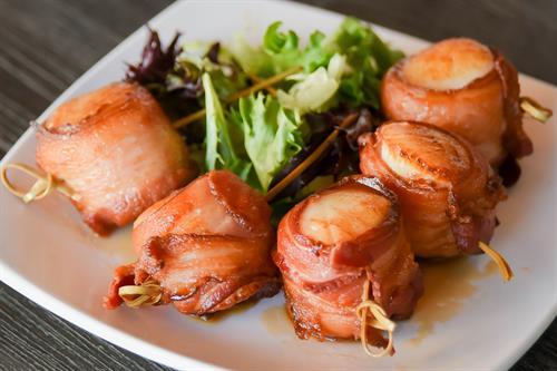 Bacon wrapped Sea Scallops