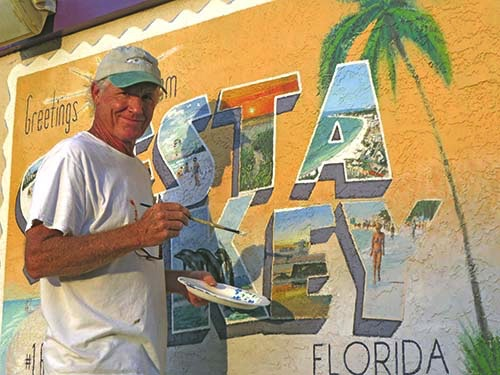 """Welcome to Siesta Key"", Mural"