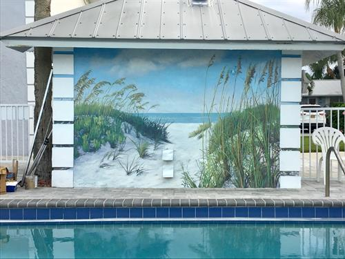 """Pathway to the Beach"", Village West Poolside Mural"