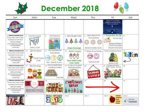 December Happenings at So Big Preschool!
