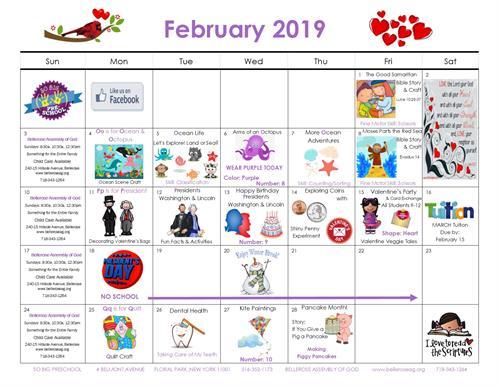 February Preschool Happenings!