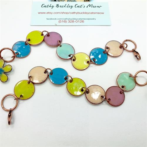 enameled vintage copper pennies