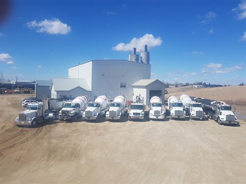 Well maintained fleet of trucks