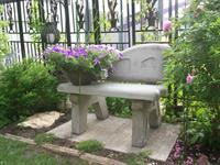 As well as avariety of custom made concrete benches.