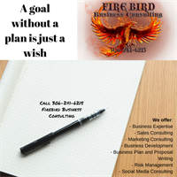 A goal without a plan is just a wish - call 306-241-6215 Firebird Business Consulting Ltd. - Saskatoon Warman and area