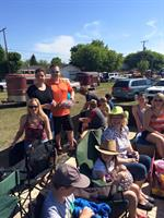 With the Warman Chamber on the float at the Warman parade - 2015