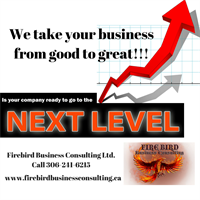 We take your business from good to great!! Firebird Business Consulting Ltd. 306-241-6215 Saskatoon Warman area