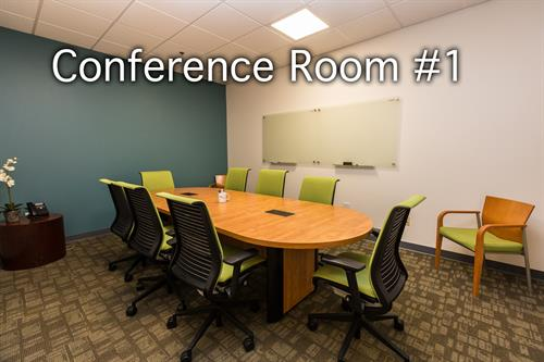 Our medium-size conference room can hold up to 8 guests comfortably