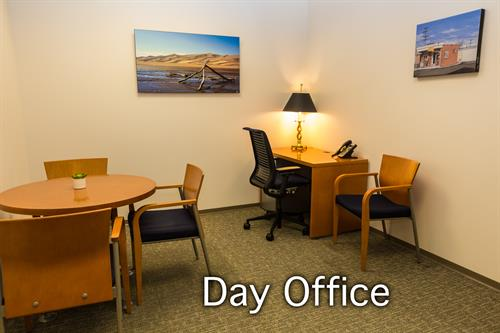 You always have the option to rent our day office