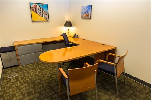 A sample interior executive office suite in our new wing.