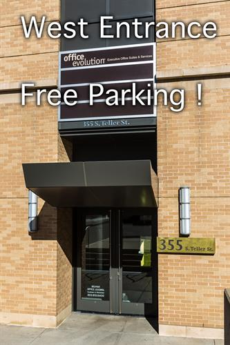 There is free parking on the surface lot near our west entrance.