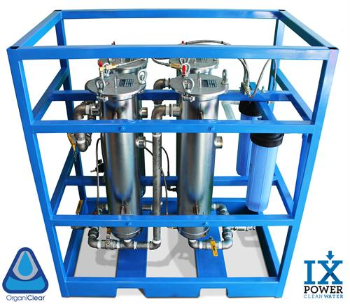 One of the first models of the OrganiClear machine offered by IX Power Clean Water to clean produced water from the oil & gas industry.   www.ixwater.co