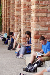 And of course, studying among the columns.