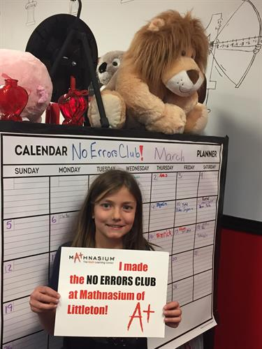 One of mathletes who joined the No Errors Club!