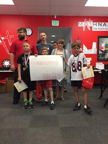 5th grade TriMathlon Winners (2015)