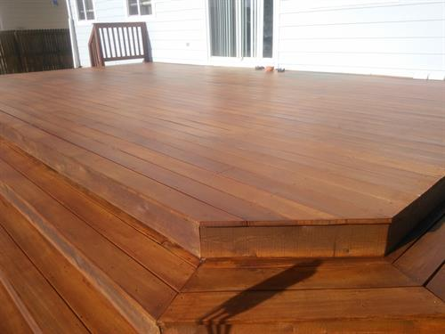 restained residential deck