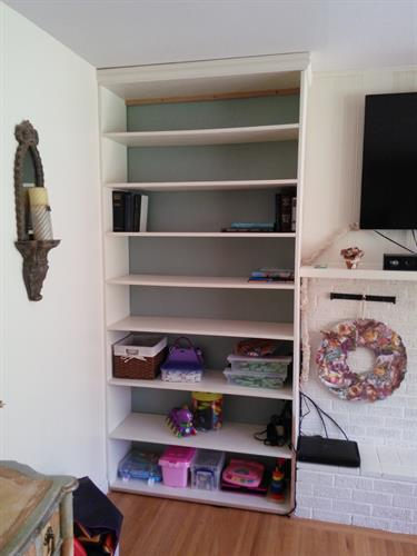 custom shelving unit for residence