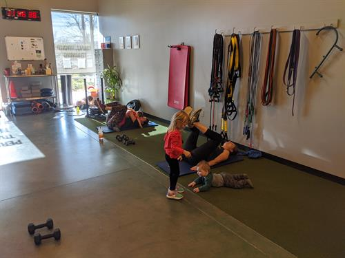 Kids are welcome at our Momma MoveCamp class!