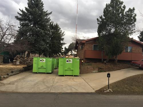 Double bin driveway