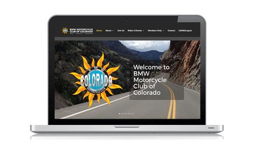 Website design for BMW Motorcycle Club of Colorado