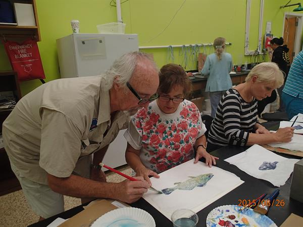 Texas Coastal Naturalist Fish Printing Class