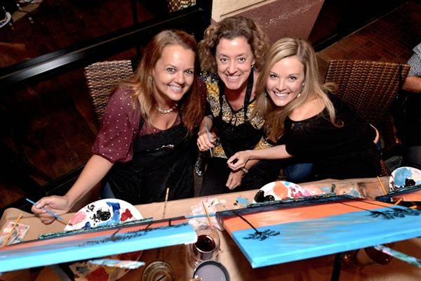 Paint and sip classes are a fun girls night out or with co-workers