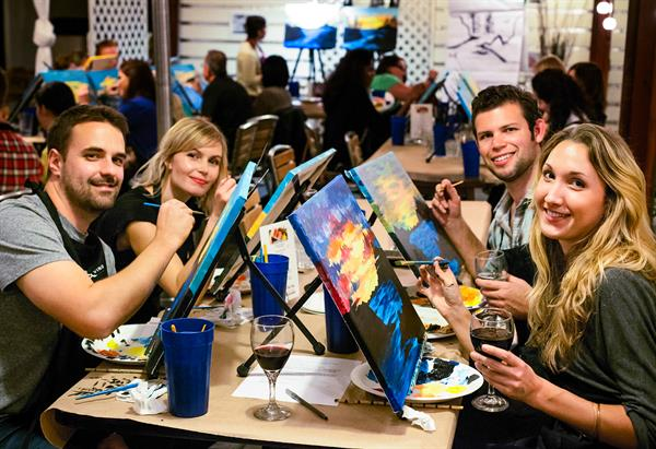 Paint and sip classes on South Padre Island