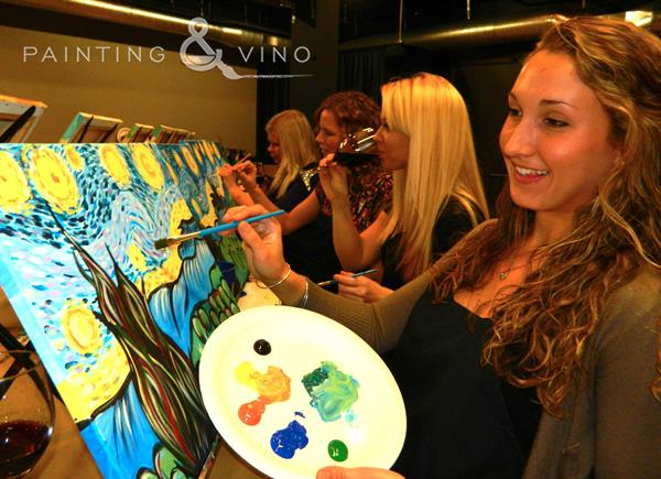 Painting classes held at local restaurants