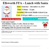 Ellsworth FFA - Lunch with Santa