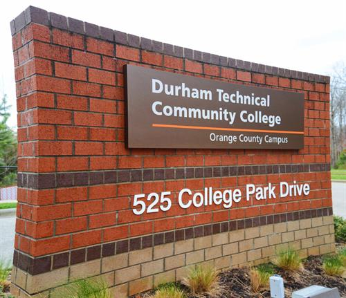 The Durham Tech Orange County Campus is set in the Hillsborough area.