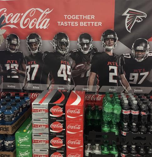 Atlanta Falcons and Coke-A-Cola