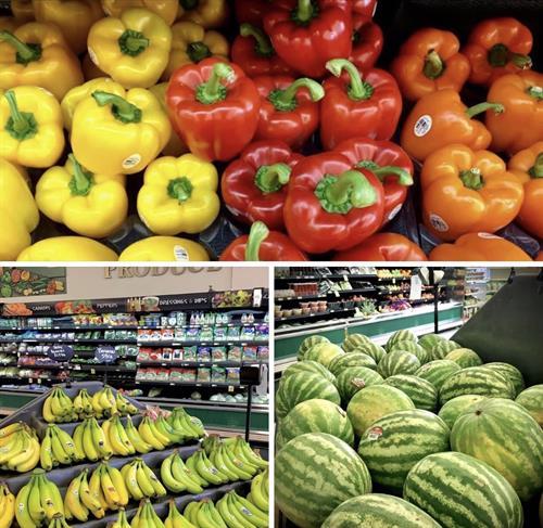 Beautiful Colors of fresh produce