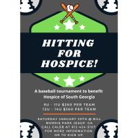 Hitting for Hospice