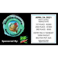 Appling County Bass Tournament