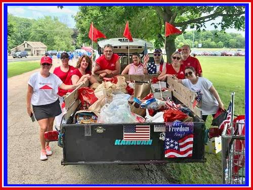 4th of July Parade Food Collection for food pantry