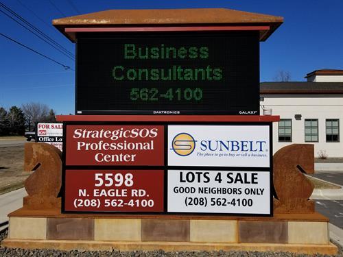Signage on Eagle Rd.