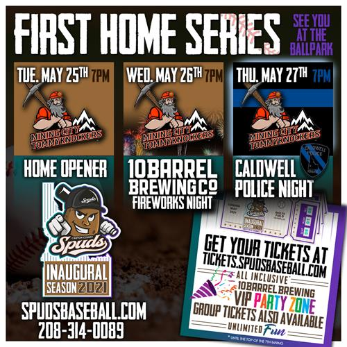 Spuds first 3 game homestand...