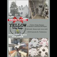 Ribbon Cutting: Yellow Tulip Designs