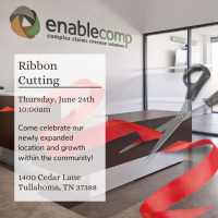 Ribbon Cutting: EnableComp Expansion