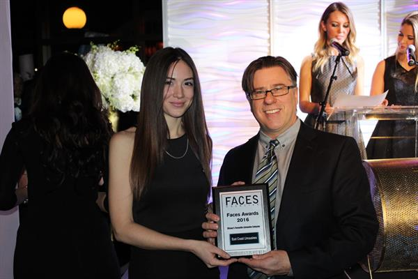 East Coast Limos win the FACES Award for Ottawa's Top Limousine Service