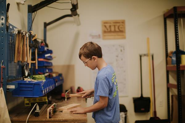 Maker City is a creative workshop studio for kids 8+.