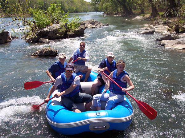 Raft trips are great fun for families and friends!